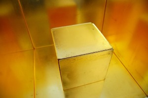 golden cube in golden cube